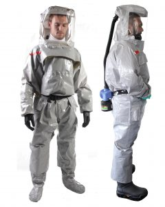 Level A CBRN protective suits with SZIP Easyproof airtight zippers