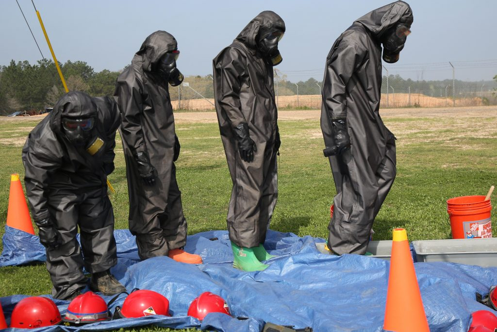 CBRN chemical protective suits with airtight zippers SZIP Easyproof